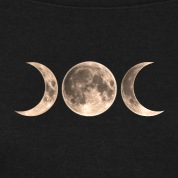 Wicca-Moon---triple-moon---Goddess-symbol-Sweat-shirts